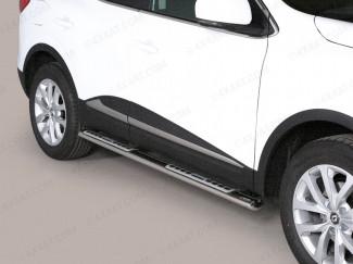 Mitsutonida Oval Stainless Steel Side Bars With Step Moulds For 2012 Onwards Renault Kadjar