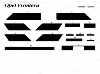 Frontera Mk1 91-94/5 Wood Trim Kit For Interior Dash Board