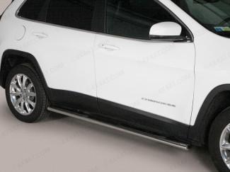 Jeep Cherokee 2014 Onwards Mach Side Bars Stainless Steel