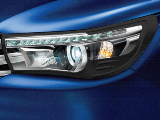 Black head light surround for Toyota Hilux