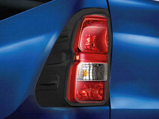 Toyota Hilux black tail light surround