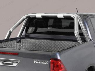 Toyota Hilux 2021 On Double Cab Single Hoop Sports Bar - Polished
