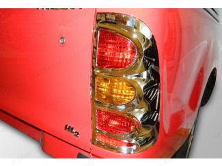 Toyota Hilux Mk6 Tail Light Surrounds - Chrome