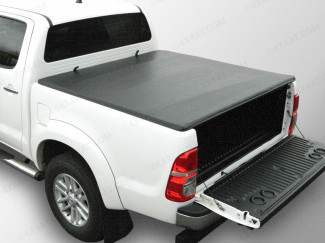 Toyota Hilux 2005 -2015 Double Cab Tonneau Cover – Soft Roll Up Without Ladder Rack