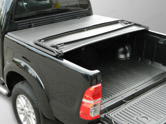 TOYOTA HILUX MK6-7 2005 ON DOUBLE CAB SOFT TRI-FOLDING LOAD BED COVER WITHOUT LADDER RACK