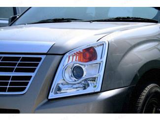 Chrome Head Lamp Covers Isuzu Rodeo Mk2