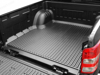 Under rail bed liner on a double cab Mitsubishi L200