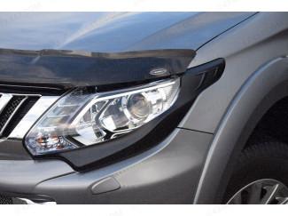 Black Head Lamp Surrounds Mitsubishi L200 Series 5 15 On