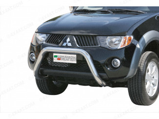 Mitsubishi L200 5/6 Eu Approved A-Frame Bull Bar Mach3 Inch For Vehicles Without Plastic Bar A-Bar