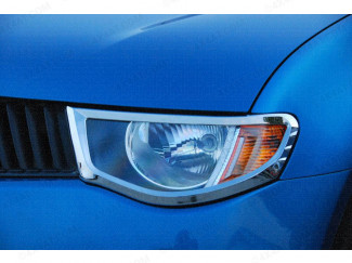 Chrome Head Lamp Surrounds Mitsubishi L200 Mk5 05-09