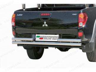 Mitsubishi L200 5 Stainless Steel Tube Double Straight Rear Bar Non Tow (Mach)