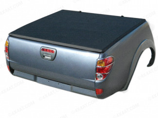 Mitsubishi L200 Curved Bed 05-14 Double Cab Soft Tri-Folding Cover – Without Ladder Rack