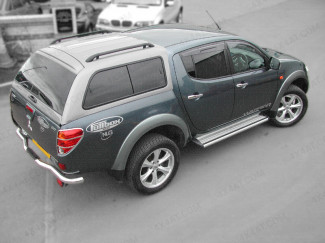 Mitsubishi L200 2005-2015 MK5 Curved Bed Alpha GTEM1 Canopy Painted X08 Black