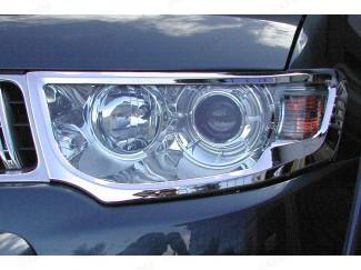 Chrome Headlight Covers Mitsubishi L200 Mk6 2010-2015