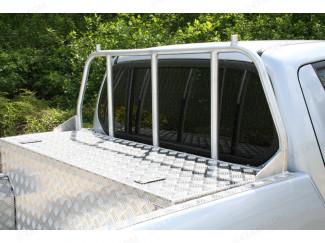 Alloy Ladder Rack Window Guard For Mitsubishi L200 Club Cab 2005 On