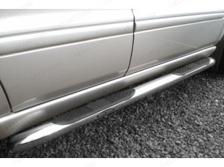 Mercedes Ml Mk1/2 OE Style Stainless Steel Side Bar With Step Curved End Style
