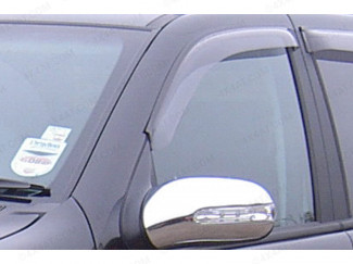 Dark smoke, tinted Mercedes M Class 1998-2002 wind deflectors