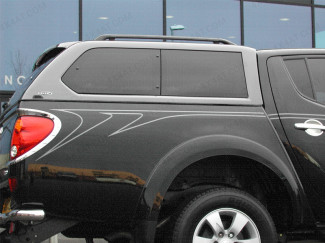 MITSUBISHI L200 MK6 LONG BED DOUBLE CAB ALPHA GSE HARD TOP WITH SIDE WINDOWS IN PRIMER