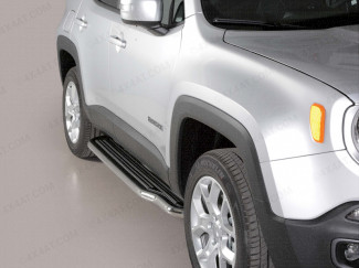 Jeep Renegade 2015 On 50mm Stainless Steel Side Steps