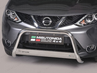 Nissan Qashqai 2014 On Misutonida 63mm Front A-Bar - Stainless-Steel finish