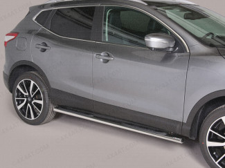Mitsutonida Stainless Steel Oval Side Steps For 2014 Onwards Mk2 Nissan Qashqai
