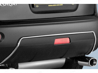 Nissan Qashqai 1/2 Chrome trim for rear bumper (cobra)