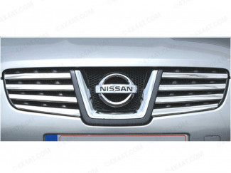 Stainless Steel Front Grille Cover For Nissan Qashqai  Mk1-09