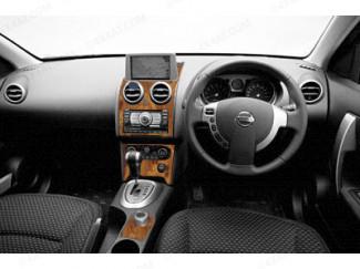 Nissan Qashqai And Qashqai+2 2007 To 2014 Wood Trim Kit For Interior Dash Board