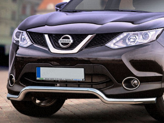 Nissan Qashqai 2014 On 60mm Spoiler Guard Stainless Steel