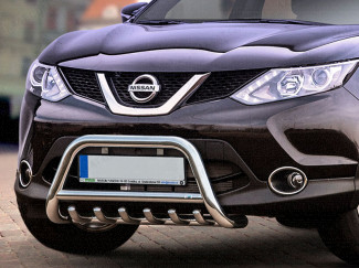 Nissan Qashqai 14 On 60mm Nudge Bar Stainless Steel
