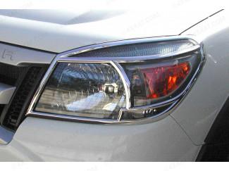 Ford Ranger 4 Chrome Front Light Covers