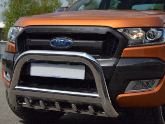 Ford Ranger 2012 On 90mm EU Spec A-Frame Bull Bar With Axel Bars