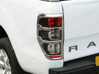 Ford Ranger Mk5 2012 On Chrome Tail Lamp Surrounds