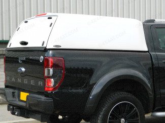 Ford Ranger 12 On Carryboy High Capacity Canopy With Solid Rear Door In White