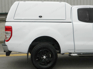 Ford Ranger Super Cab Carryboy Workman Hard Top With Solid Rear Door In White