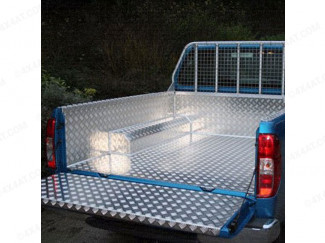 Ford Ranger 1/2 Double Cab Samson Chequer Plate Pickup Load Bed Liner