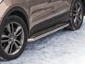 76mm Side Bars Stainless Steel For Hyundai Santa-Fe 2012 On