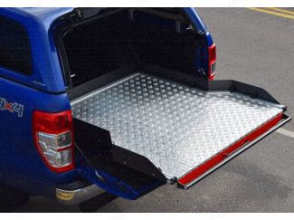 Heavy Duty Wide Chequer Plate Deck Bed Slide Ford Ranger