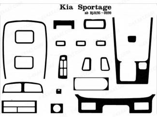 Kia Sportage Mk1 Carbon Style Dashboard Trim Kit