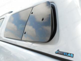Nissan Navara NP300 Aeroklas Canopy Left Hand Pop Out Window Set