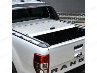 Ford Ranger 2012-2019 Aeroklas Retractable Tonneau Cover In Silver