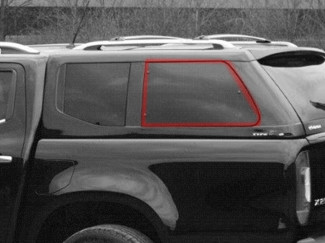 Alpha Type E Left Hand Side Pop Out Window Glass