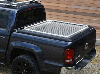 Mountain Top Aluminium Chequer Plate Tonneau Cover, VW Amarok