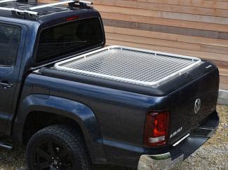 Mountain Top Aluminium Chequer Plate Tonneau Cover, VW Amarok