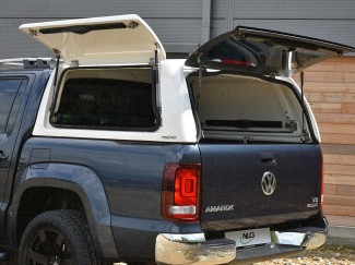 VW Amarok ProTop Canopy Gullwing Side Access Doors Open