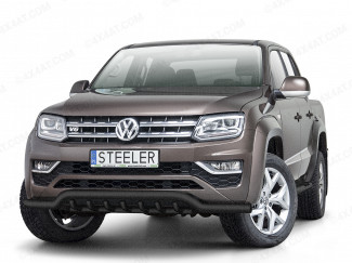 VW Amarok Front Spoiler bar with axle bars in black