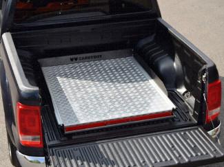 Vw Amarok Chequer-Plate Deck Heavy Duty Bed Slide
