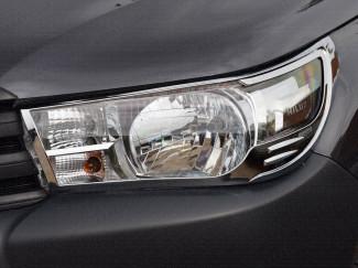 Chrome headlamp surround for Toyota Hilux