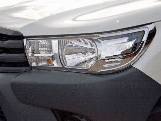 Chrome head lamp surround for Toyota Hilux