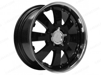 22 X9.5 Concerto Black Alloy Wheel